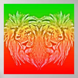 HEART LION JAH PÓSTER