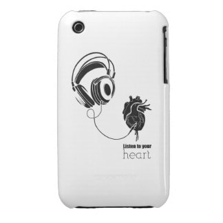Heart lists to your iPhone 3 Case-Mate case