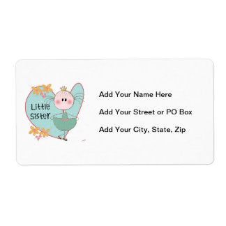 Heart Little Sister Personalized Shipping Labels
