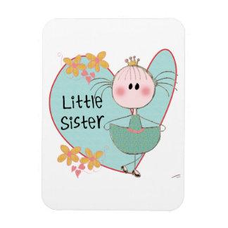 Heart Little Sister Rectangle Magnets