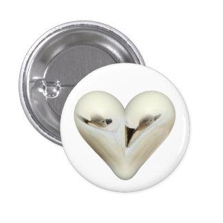 heart little swan button
