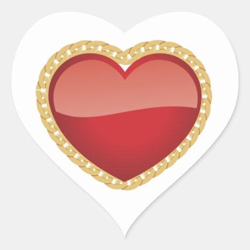Heart Lock Sticker