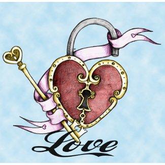 Heart Lock Tattoo Valentine Necklace necklace