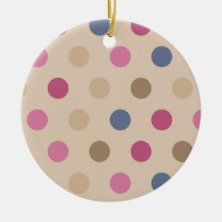 Heart Lock with polkadots Ceramic Ornament