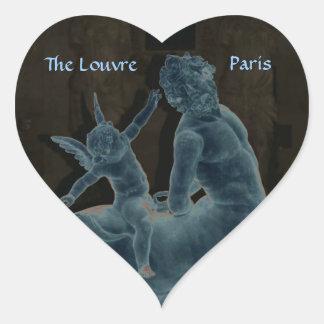 Heart Louvre Sculpture Stickers