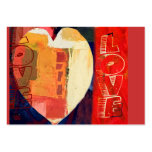Heart Love Abstract Valentine's Day Heart ACEO Large Business Cards (Pack Of 100)