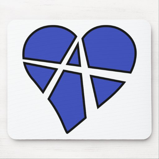 Heart Love Anarchy Symbol Anarchist Anarchism Mousepad