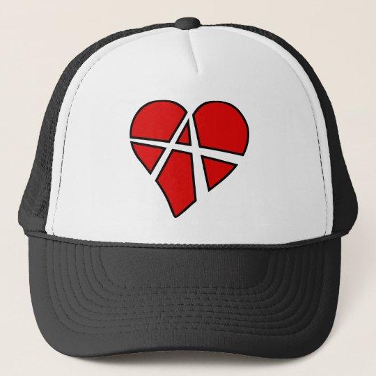 Heart Love Anarchy Symbol Anarchist Anarchism Trucker Hat