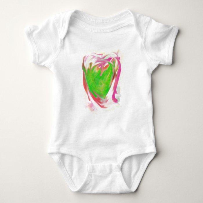 Heart Love Baby Bodysuit
