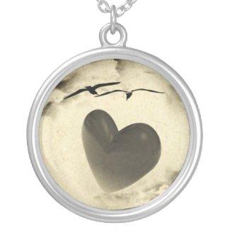 Heart Love Birds Pendant Necklace necklace