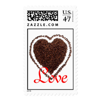Heart Love Coffee-Lovers Valentine Save the Date Postage