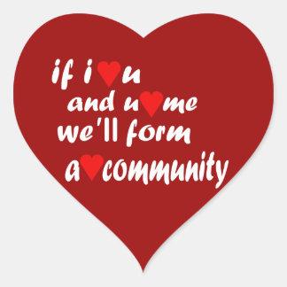 Heart (Love) Community Stickers