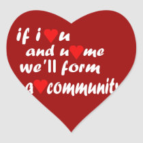 Heart (Love) Community Stickers