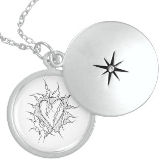 Heart love connect locket necklace