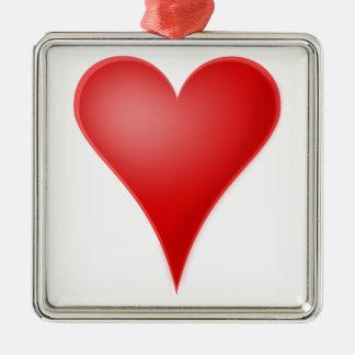 Heart love cool ornament
