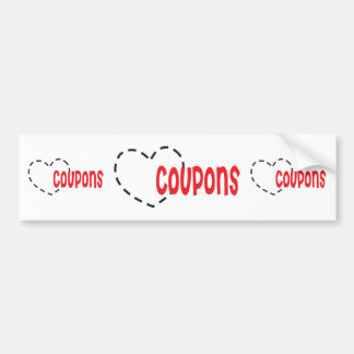 Heart - Love - Coupons Bumper Sticker
