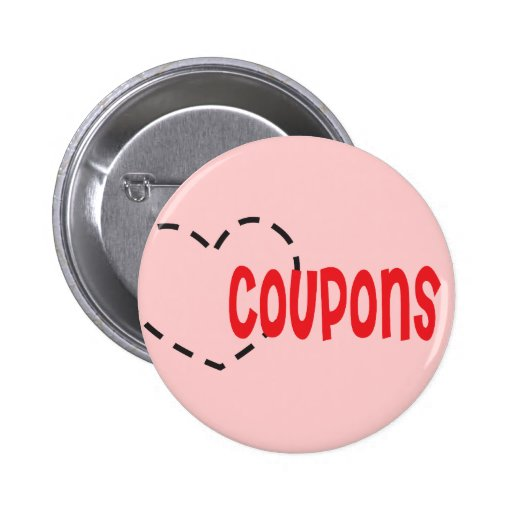 Heart - Love - Coupons Pinback Button