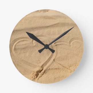heart love custom personalize Anniversaries Round Clock