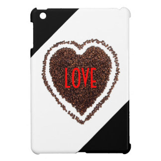 Heart Love Cute Humor Coffee-Lover Black and White Cover For The iPad Mini