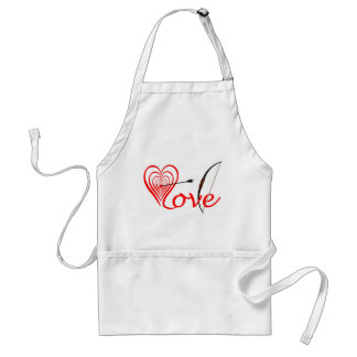 Heart love Dartscheibe with arrow and sheet Adult Apron