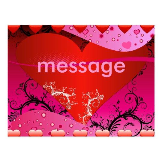 Heart Love Design Postcard