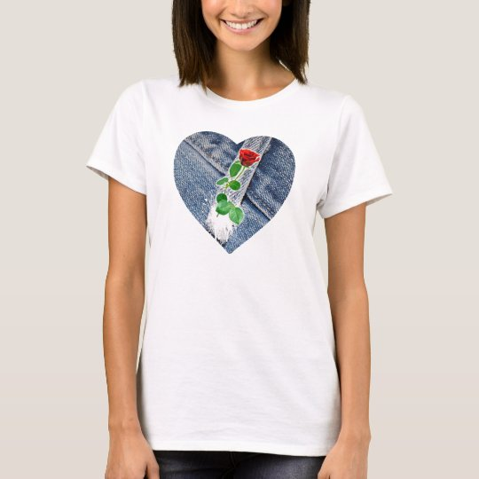 heart love for the rose T-Shirt