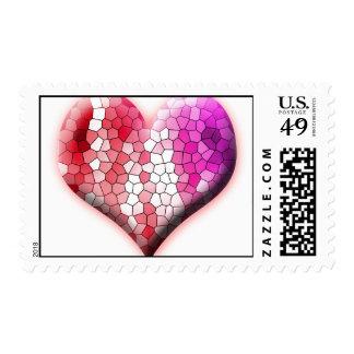 heart love hearts custom personalize Anniversaries Postage