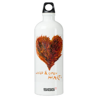Heart Love Image Aluminum Water Bottle