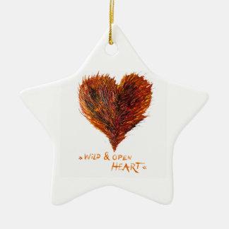 Heart Love Image Ceramic Ornament