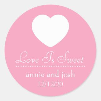 Heart Love Is Sweet Labels (Pink)