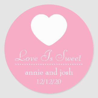 Heart Love Is Sweet Labels (Pink)