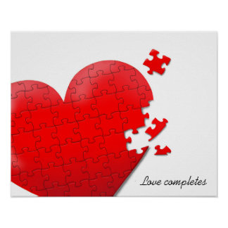 heart love jigsaw puzzle pster poster