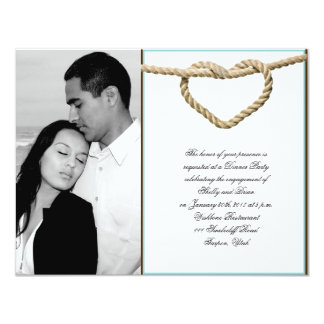 Heart Love Knot Western Wedding Engagement Invites