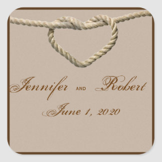 Heart Love Knot Western Wedding Envelope Seal