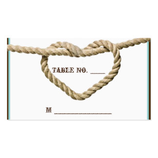 Heart Love Knot Western Wedding Place Cards Business Card