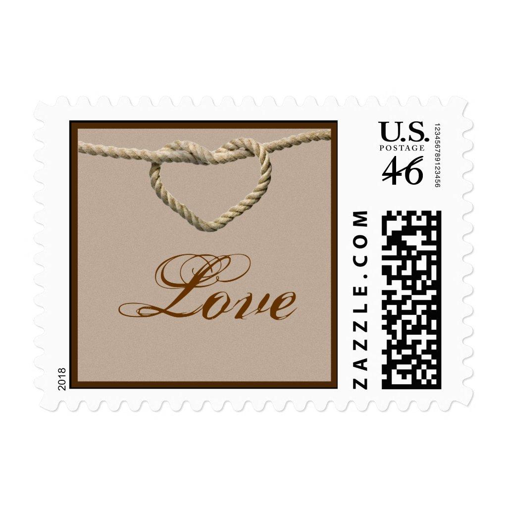Heart Love Knot Western Wedding Postage