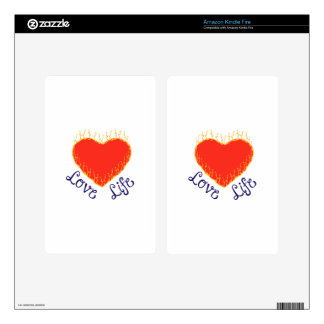 HEART LOVE LIFE KINDLE FIRE DECAL