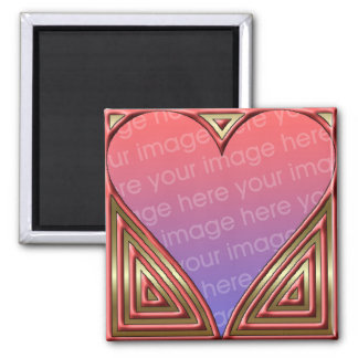 Heart Love Magnet Template