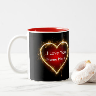Heart Love Name Valentine Mugs