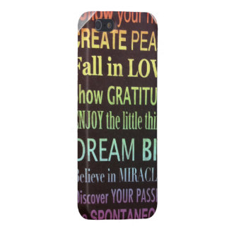 Heart love peace gratitude dream miracles passion cover for iPhone 5