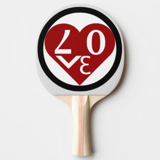 Heart Love Ping Pong Paddle