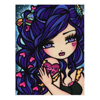 Heart Love Potion Mermaid Fairy Fantasy Art Girl Post Cards