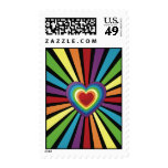 Heart Love Rainbow Postage