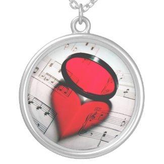 Heart Love Reflection Sterling Photo Pendant necklace
