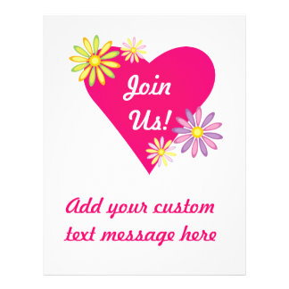 Heart Love Romance Stationery Flyer