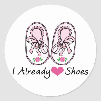 Heart Love Shoes Already Classic Round Sticker