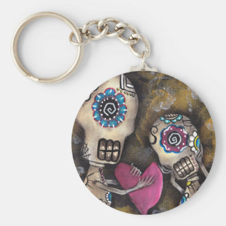 Heart Love Skeleton Day of the Dead Keychain