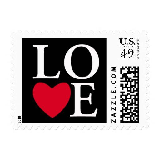 Heart Love Stamp Black