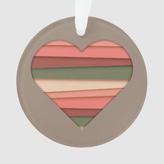Heart Love Striped Valentine's Day Ornament
