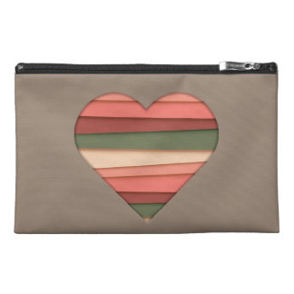 Heart Love Striped Valentine's Day Travel Accessories Bags